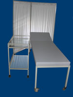 Hospital bedside screen,hospital glass table and hospital bed